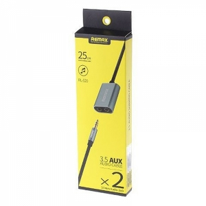 RL-S20  3.5 AUX AUDIO CABLE*2  REMAX