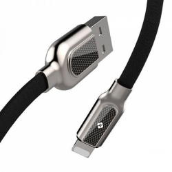 L136 TOTU DESIGN ZINC ALLOY carbon fiber USB CABLE for Lightning 1200mm 2.4A