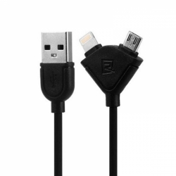 RC-031T 2in1 USB кабель для iPhone/Android 1м